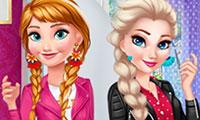 Elsa et Anna : Coiffure et Habillage