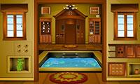 Sortir de la maison au bassin d'intérieur