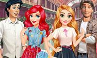 Habiller Raiponce et Ariel pour un rendez-vous