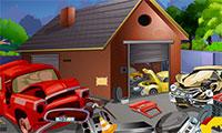 Trouver la statuette cachée dans le garage automobile