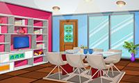Evasion petite maison colorée
