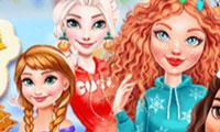 Habiller les princesses Disney pour Noël