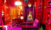 Ouvrir la porte de la maison de Noël