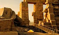 Evasion des ruines du desert