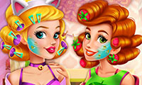 Vrai maquillage de 2 princesses