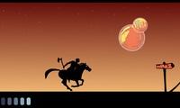 Héros sur un cheval