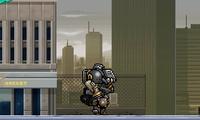 Destruction d'une ville avec un robot