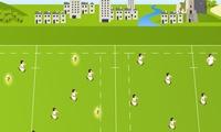Foncer sur des joueurs de rugby