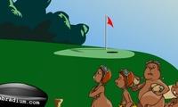 Jeu de golf avec ecureuil