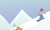 Jeu de glisse sur snowboard