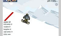 Jeu de saut au snowboard