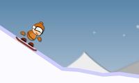 Descendre une montagne en snowboard