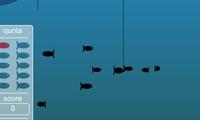 Jeu de pêche dans la mer