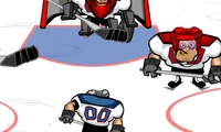 Jeu de hockey sur glace violent