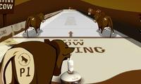 Curling avec des vaches