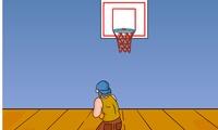Tir au panier de basket ball
