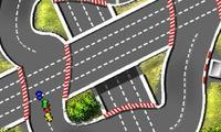 Course de voitures en ville