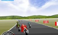 Course de rapidité en moto