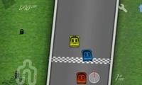 Course de voitures en 3D