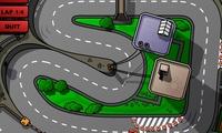 Conduite d'une voiture sur un circuit