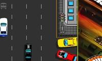 Course poursuite entre voitures