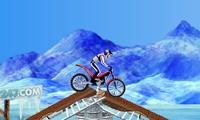 Moto sur de la neige