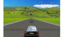 Conduire une voiture sur une route