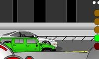 Course entre deux voitures