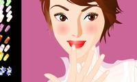 Poser de faux ongles sur une fille