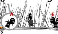 Samouraï contre des ninjas