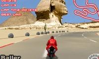 Course de moto en 3D
