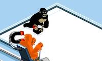 Curling avec des singes