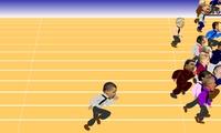Jeu d athlétisme avec Barack Obama