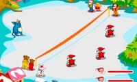 Lancer de boules de neige