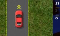 Conduite de voiture sur un circuit