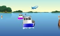 Course de bateaux en 3D