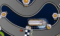 Course de voitures dans l espace