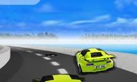 Course de voitures extrême