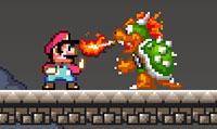 Jeu de combat avec Mario Bros