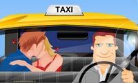 Bisous dans un taxi