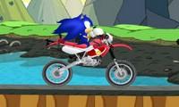 Jeu de moto avec Sonic