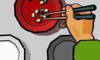 Tenir des baguettes chinoises