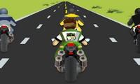 Course de motos Ben 10 en 3D