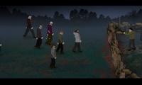 Tirer sur une horde de zombies