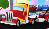 Camion qui transporte des voitures