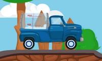 Camion qui transporte du lait