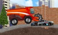Camion qui écrase des voitures