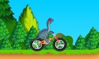 BMX avec un dinosaure