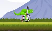 Dinosaure en vélo
