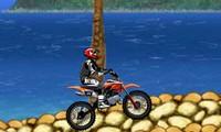 Motocross sur la plage